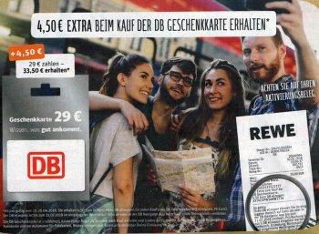 Bahn: Gratis-eCoupon über 4,50 Euro beim Kauf einer Guthabenkarte über 29 Euro