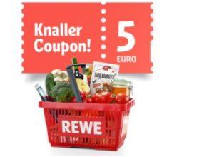 Rewe: 5 Euro App-Rabatt für Lieferservice und Laden vor Ort