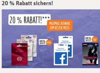 Rewe: Fünf Euro-Bahn-Rabatt & 20 Prozent Rabatt auf C&A-Guthabenkarten