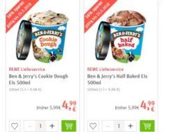 """Rewe: """"Ben & Jerry's""""-Eis beim Lieferservice für je 4,99 Euro"""