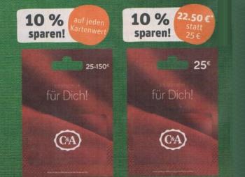 Rewe: Guthabenkarten von C&A sowie H&M mit bis zu 20 Prozent Rabatt