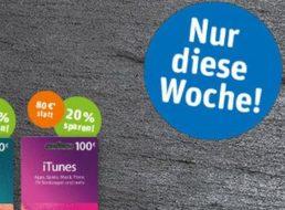 Rewe: iTunes-Karten mit bis zu 20 Prozent Rabatt