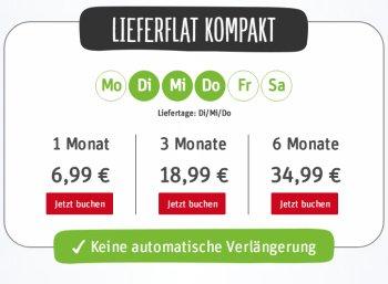 Rewe: Lieferflat ohne automatische Verlängerung ab 5,83 Euro im Monat