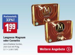 Rewe: Magnum im Viererpack für 1,99 Euro – auch im Lieferservice