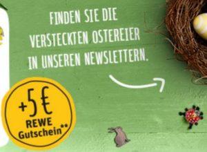 Rewe: Gutschein über fünf Euro für Newsletter-Anmeldung