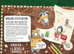 Globus: Nikolausstiefel basteln und gratis befüllen lassen