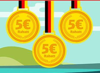 Bahn: Fünf Euro Rabatt pro deutsche Goldmedaille am Folgetag