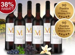Ebrosia: 6er-Paket Parker-Wein für 39,99 statt 65 Euro frei Haus