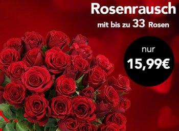 Blumeideal: 33 Rosen für 20,94 Euro frei Haus