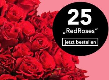 Blumeideal: 25 rote Rosen für 19,98 Euro inklusive Lieferung