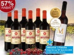 Ebrosia: Sieben Flaschen Rotwein (mit Parker-Wein) für 29,99 Euro frei Haus