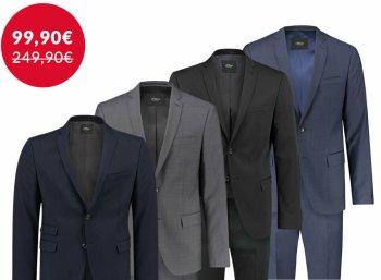s.Oliver: Herren-Anzug bei Ebay für 99,90 Euro frei Haus