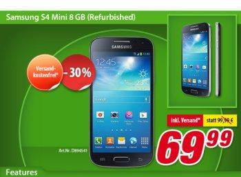 Völkner: Samsung Galaxy S4 Mini als B-Ware für 69,99 Euro frei Haus