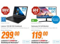 Notebooksbilliger: 24-Zoll-Monitor Samsung S24F356FHU ab 113,05 Euro