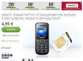 Samsung E1200 geschenkt