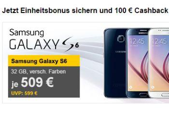 Samsung Galaxy S6 Edge dank Cashback für 409 Euro