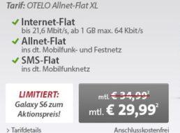 Sparhandy: Samsung Galaxy S6 inklusive Allnet-Flat XL für 4,95 Euro