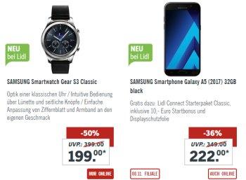 Lidl: Smartwatch Samsung Gear S3 Classic für 203,95 Euro mit Lieferung