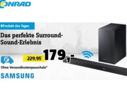 Conrad: Kabellose Soundbar Samsung HW-K450 für 173,45 Euro frei Haus
