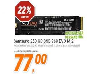 Samsung: PCI-SSD mit 250 GByte für 77 Euro frei Haus