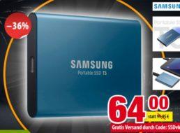 Völkner: Portable SSD von Samsung mit 250 GByte für 64 Euro