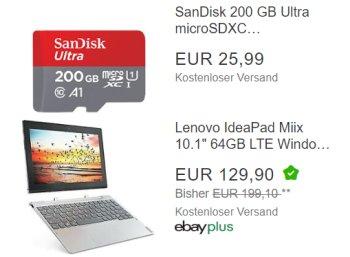 Sandisk: MicroSDXC mit 200 GByte für 25,99 Euro frei Haus