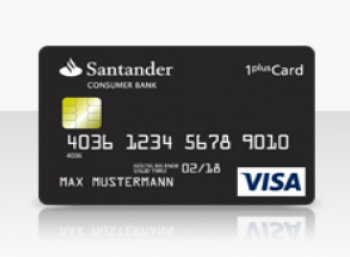 Santander: 1plus Visa Card ohne Jahresgebühr (Foto: Santander.de)
