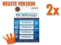 Meinpaket: Sanyo Eneloop HR-3UTGB im Achterpack für 14,90 Euro frei Haus
