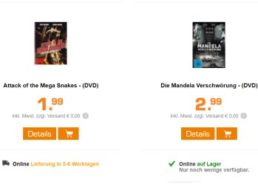 Saturn: DVDs und Blu-rays ab 1,99 Euro frei Haus