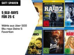 Saturn: Fünf Blu-rays nach Wahl für 25 Euro frei Haus