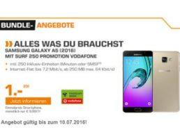 Saturn: Samsung Galaxy A5 (2016) mit Vodafone-Vertrag für komplett 280,75 Euro