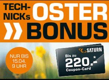 Saturn: Oster-Bonus von bis zu 220 Euro auf tausende Artikel
