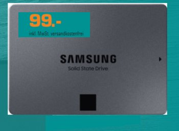 Saturn: TByte-SSD Samsung 860 QVO für 99 Euro frei Haus