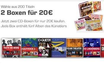 Saturn: Zwei CD-Boxen mit je fünf CDs für 20 Euro frei Haus