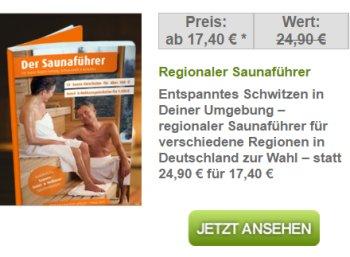 Dailydeal: Saunaführer mit zahlreichen Gutscheinen für 17,90 Euro