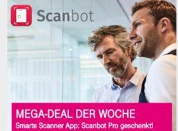 Gratis: Scanbot Pro für Telekom-Kunden zum Nulltarif