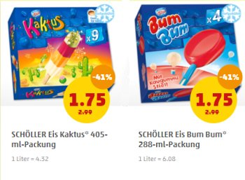 Penny: Diverse Multipacks Schöller-Eis für je 1,75 Euro