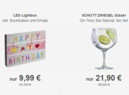 Allyouneed: Gin-Gläser von Schott Zwiesel  & LED-Lichtbox zum Schnäppchenpreis