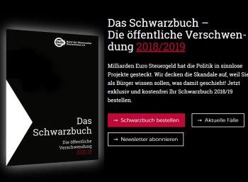 Gratis: Schwarzbuch vom Bund der Steuerzahler kostenlos frei Haus
