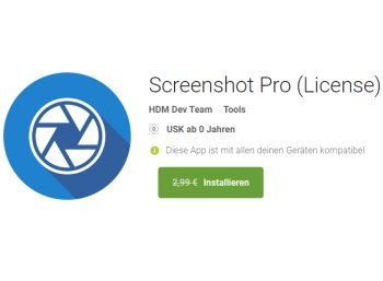 """Gratis: App """"Screenshot Pro"""" für 0 statt 2,99 Euro"""