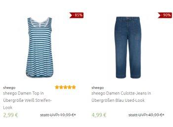 Outlet46: Sheego-Artikel zu Preisen ab 2,99 Euro