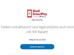 Shell: 10 Euro Tank-Rabatt via Paypal und App