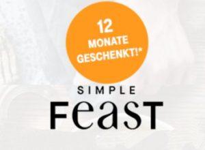 """Telekom: Rezepte-App """"Simple Feast"""" im Wert von 70 Euro ein Jahr gratis"""