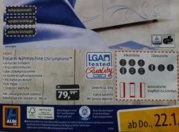 Aldi-Süd: Gut bewertete Nähmaschine Singer 2250 für 79,99 Euro