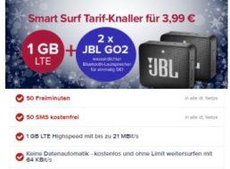 Tarifhaus: GByte-Datenflat mit 50 Frei-SMS und Freiminuten & Lautsprechern für 3,99 Euro