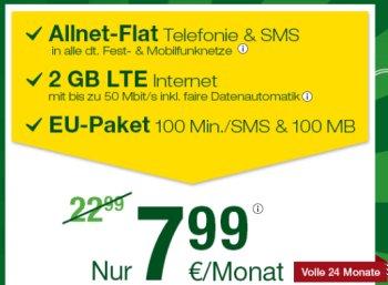 Smartmobil: Volks-Flat mit zwei GByte LTE, Allnet-Flat und SMS-Flat für 7,99 Euro