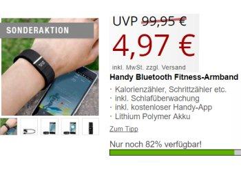 Druckerzubehoer.de: Smartwatch mit Schrittzähler und mehr für 10,94 Euro frei Haus