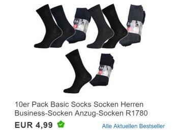 Ebay: Zehnerpack Business-Socken für 4,99 Euro frei Haus