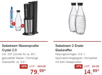 Lidl: Wassersprudler Sodastream Crystal 2.0 zum Bestpreis von 84,94 Euro