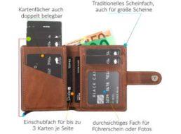 Dealclub: Geldbeutel mit RFID-Schutz und Schiebmechanismus für 39,90 Euro